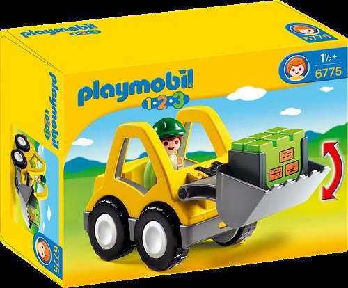 Playmobil 1.2.3 - Graafmachine met werkman 6775