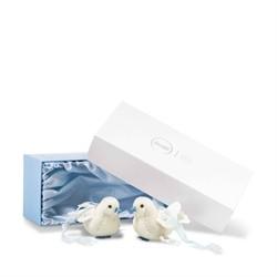 Steiff huwelijkscadeau Wedding dove set, white 7 cm