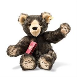 Steiff knuffel Around the world bears Tom, the globetrotting Teddy bear, dark brown tipped 37 cm