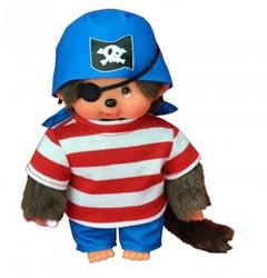 Monchhichi  knuffelpop Jongen Piraat - 20 cm