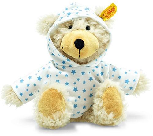 Steiff Slungel-Teddybeer Charly Stars met sweater met capuchon