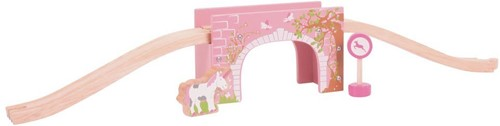 Bigjigs Pink Arched Bridge