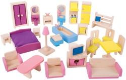 BigJigs houten poppenhuis meubels Doll Furniture Set