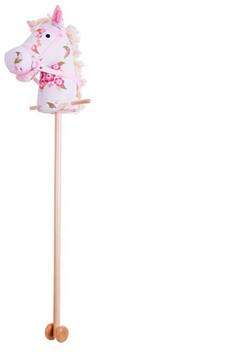 BigJigs klassiek stokpaard Bloemen