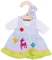 BigJigs 25cm Blue Spotted Dress with Deer