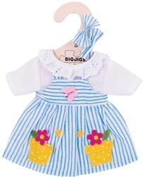 BigJigs 25cm Blue Striped Dress