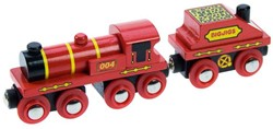 BigJigs - Treinen - Big Red Engine