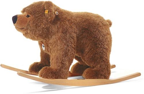 Steiff Urs riding bear, mottled brown - 70cm