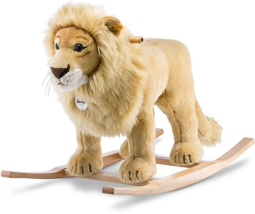 Steiff Leo riding lion, golden blond