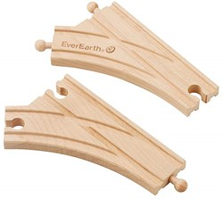 EverEarth 2pcs Curved Switch Train Tack