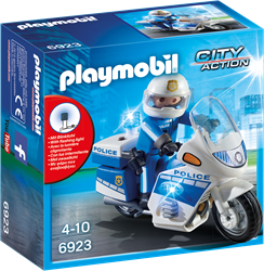 Playmobil City Action - Politiemotor met LED-licht  6923
