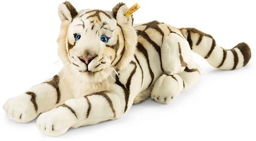 Steiff Bharat, the white tiger, striped white