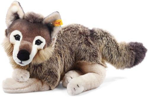 Steiff Snorry dangling wolf, grey/brown