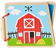 Hape houten babyboek Boerderij
