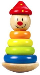 Hape houten stapelfiguur Clown 6 delig