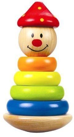 Hape Clown stapelfiguur regenboog ringen