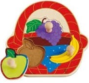 Hape houten vormenpuzzel Fruitmand
