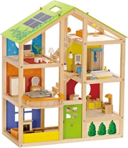 Hape Poppenhuis met meubels