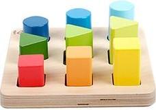 Hape Kleur- en vormenplank met 9 vormen