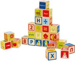 Hape houten bouwblokken ABC Blocks
