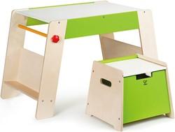 Hape houten kindermeubel Play Station & Stool Set