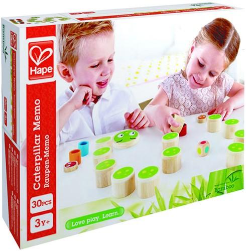 Hape Memory spel bamboe rupsen