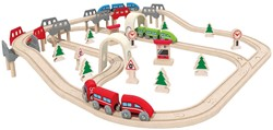 Hape houten trein set High & Low Railway Set