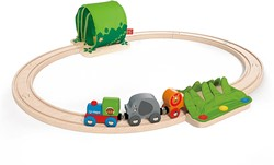 Hape houten trein set Jungle Train Journey Set