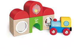 Hape houten trein set Station Building Block Set