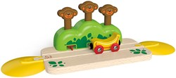 Hape houten trein Monkey Pop-Up Track