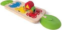 Hape houten trein Color & Shape Sorting Track