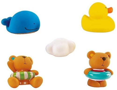 Hape Teddy en Vrienden Badfiguren set