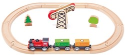 Hape houten trein set Battery Powered Engine Set