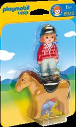 Playmobil 1.2.3 - Ruiter met paard  6973