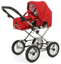 BRIO speelgoed Poppenwagen Combi - Rood