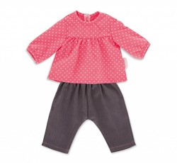 "Corolle poppenkleding Bb14""""""""Blouse & Denim Raspberry  DMN11"