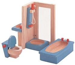 Plan Toys houten poppenhuis meubels Badkamer