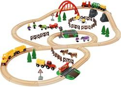 Brio houten trein set Country Life Set 33516