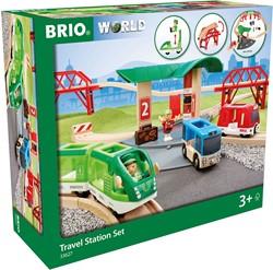 Brio houten trein set Travel Station set 33627