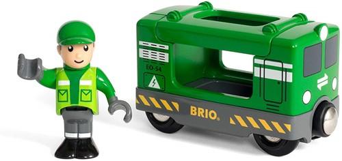 BRIO Vrachtlocomotief met machinist - 33894