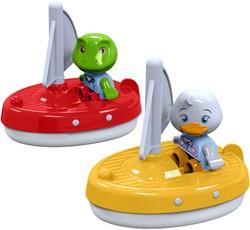 Aquaplay 2 zeilboten met 2 figuurtjes