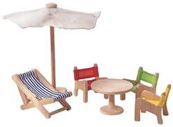 Plan Toys  houten poppenhuis meubels Patio Furniture