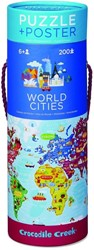Crocodile Creek poster & puzzel Wereld steden