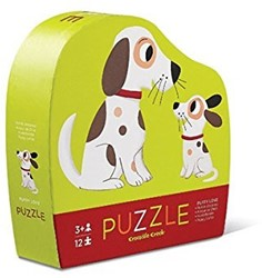 Crocodile Creek legpuzzel Mini Shaped Puzzle/Puppy Love - 12 stukjes