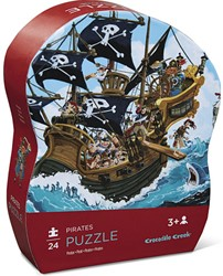 Crocodile Creek legpuzzel piratenschip 24 stukjes