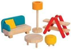 Plan Toys  houten poppenhuis meubels Living Room