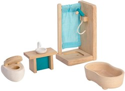 Plan Toys  houten poppenhuis meubels Bathroom