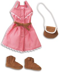 Corolle - Les Cheries poppen kleding - Sunny days dress set