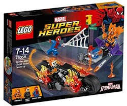 Lego  Super Heroes set Spiderman Ghost Rider 76058