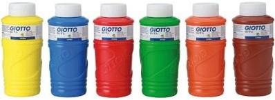 Giotto Assortment of 6 bottles 750 ml finger paint Giotto